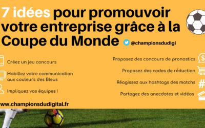 7 idées pour promouvoir votre entreprise grâce à la Coupe du Monde