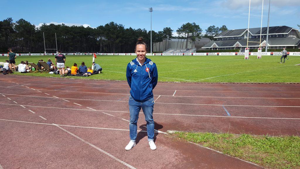 Jade Le Pesc, internationale de rugby et joueuse au Stade Rennais Rugby