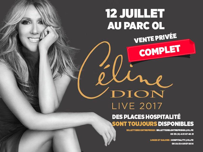 Céline Dion en concert au Parc OL