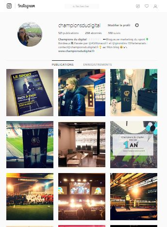 compte instagram blogueur sport