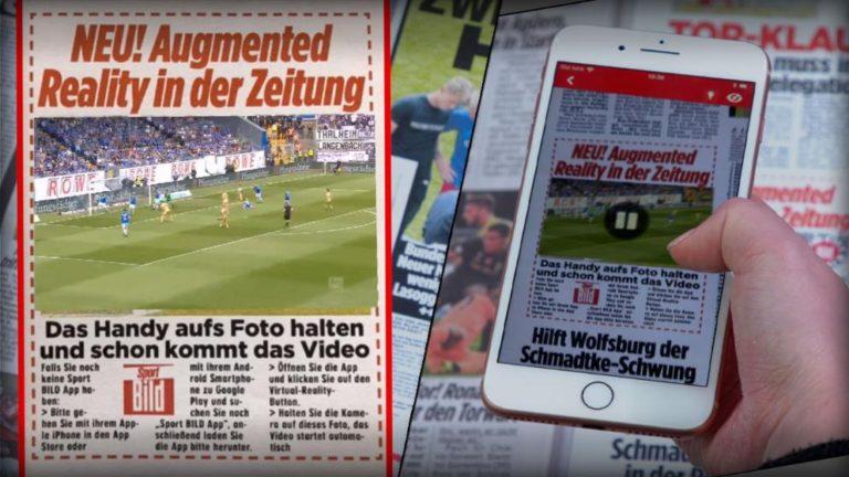 Fan experience : un journal sportif innovant a décidé d'intégrer des vidéos en réalité augmentée à ses éditions papier